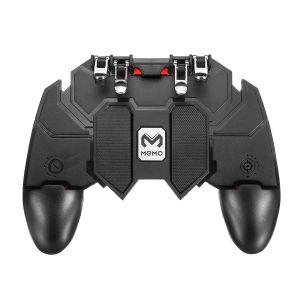 جهاز تحكم بالألعاب للهاتف المحمول طراز AK66 بـ 6 أصابع مع مفتاح إطلاق للعبة ببجي