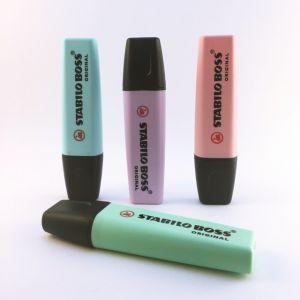 ستابيلو - طقم أقلام تحديد / تخطيط بألوان باستيل مكون من 4 الوان