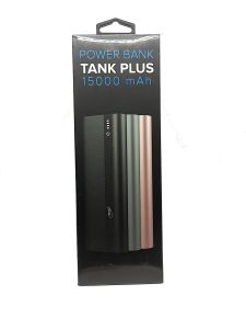 بنك طاقة بقوة 15000ملي امبير TANK PLUS من فاستر,faster ضمان سنتين-اسود