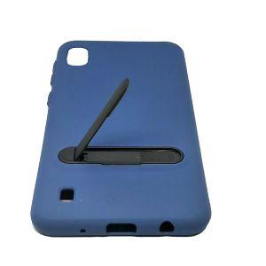 كفر سيليكون خلفي مع ستاند لهواتف جالكسي سلسلة A -ازرق