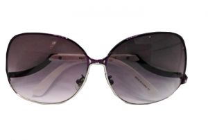 نظارة  شمسية بلاستيك -بني بالدرزن