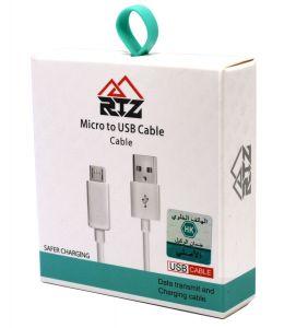 كيبل الشحن RTZ لهواتف الاندرويد عالي الجودة للشحن الامن والسريع -ابيض