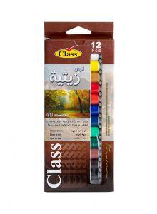مجموعة ألوان زيتية - 12 قطعة متعدد الألوان