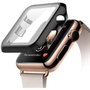 غطاء زجاح لساعة ابل ووتش الجيل الرابع والخامس, Apple watch srs 4,5 مقاس 44 ملم-أسود
