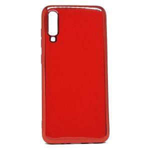 كفرات خلفية لماعة لهاتف جالكسي A70-احمر