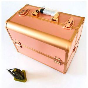 شنطة مكياج عالية التحمل، صندوق منظم محترف للسفر